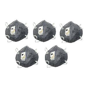 3M CL-9004V_5 Anti Pollution Mask Grey Pack of 5