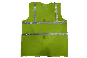 """Aktion AK-601-CPG1_ 5 Safety Jacket Parrot Green Cloth With 1"""" Reflective Tape - Pack of 5"""