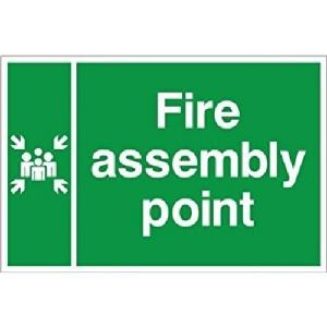 Generic ACP Fire Assembly Point Safety Sign board