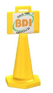BDI BDRSTCRD0001 Yellow Traffic Display Cone 500 mm